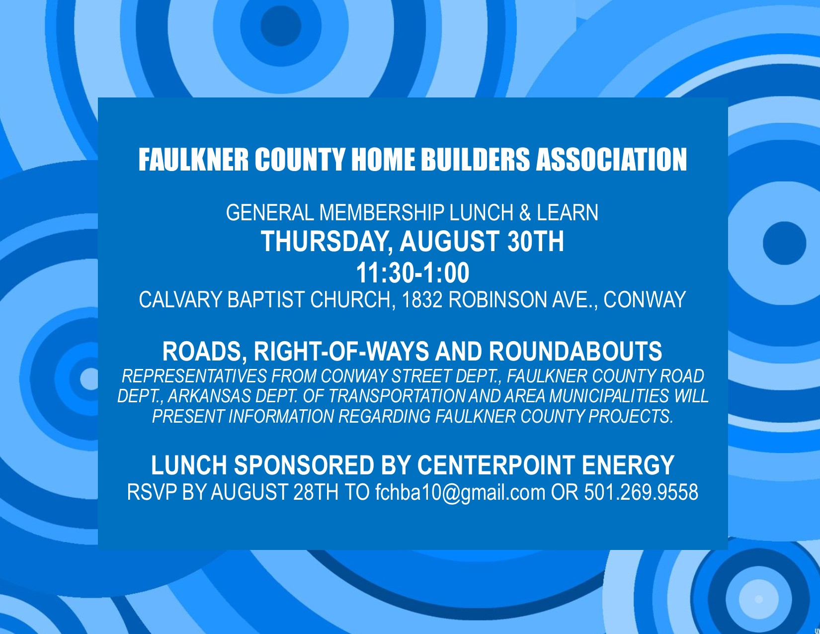 Aug 2018 lunch and learn flyer